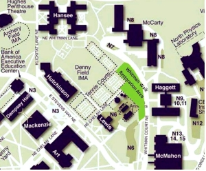 Whitman Walk map